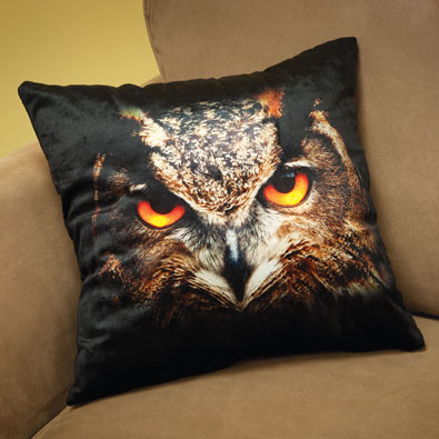 Light-Up Owl Pillow