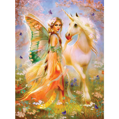 Fairy Princess and Unicorn 1000 Piece Jigsaw Puzzle