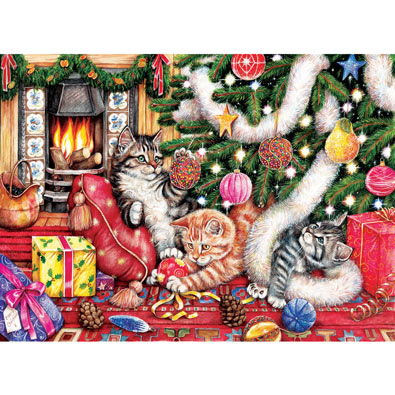Cats & Baubles 500 Piece Jigsaw Puzzle