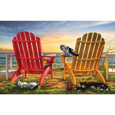 Cat Nap at the Beach 1000 Piece Jigsaw Puzzle