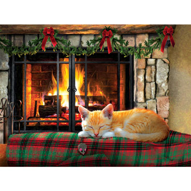 Fireside Snooze 500 Piece Jigsaw Puzzle