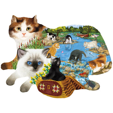 Fishing Cats 1000 Piece Jigsaw Puzzle