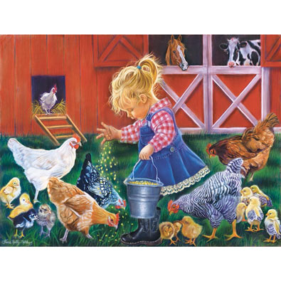 Farm Girl 300 Large Piece Jigsaw Puzzle