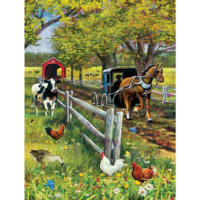 Horse and Buggy 300 Large Piece Jigsaw Puzzle