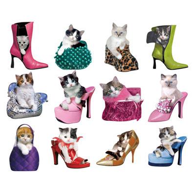 Mini Kitties Shaped Jigsaws Set