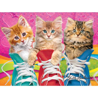 Sneaky Cats 350 Large Piece Jigsaw Puzzle