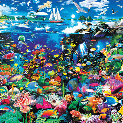 Tropical Lagoon 550 Piece Jigsaw Puzzle