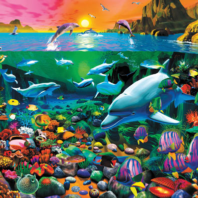 Tropical Island Waters 550 Piece Jigsaw Puzzle