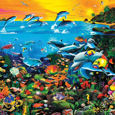 Sea of Wonders 550 Piece Jigsaw Puzzle