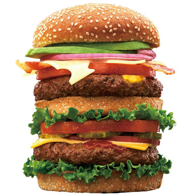 Juicy Burger Shaped 500 Piece Jigsaw Puzzle