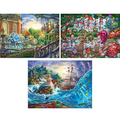 Set of 3 : Sergio Botero 1000 Piece Jigsaw Puzzles