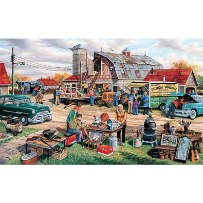 Day of the Country Auction 300 Large Piece Jigsaw Puzzle