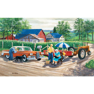 Doc's New Edsel 300 Large Piece Jigsaw Puzzle
