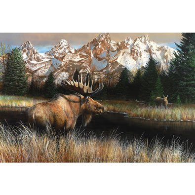 Teton Majesty 750 Piece Jigsaw Puzzle