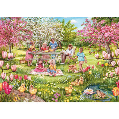 Five Little Ducks 1000 Piece Jigsaw Puzzle