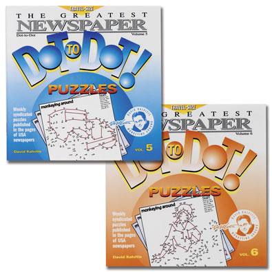 Set of 2: Newspaper Dot-To-Dot Books - Volumes 5 & 6
