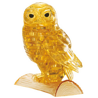 3D Crystal Perched Owl Puzzle