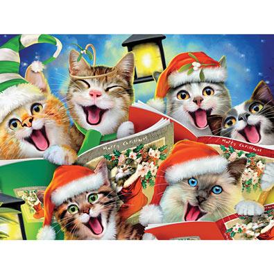 Caroling Kitties 550 Piece Jigsaw Puzzle