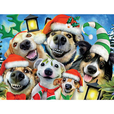 Christmas Pups 550 Piece Jigsaw Puzzle