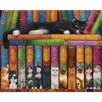 Cat Bookshelf 1000 Piece Jigsaw Puzzle