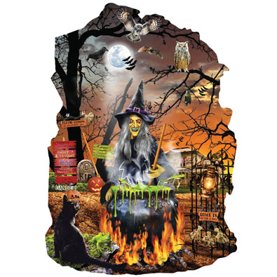 Witches Brew 1000 Piece Shaped Jigsaw Puzzle
