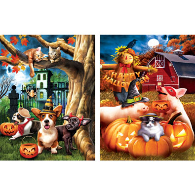 Set of 2: Tom Wood 300 Large Piece Jigsaw Puzzles