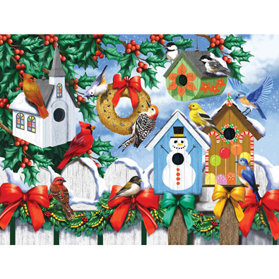 Winter Backyard 300 Large Piece Jigsaw Puzzle