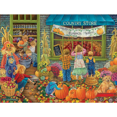 Pumpkin Festival 300 Large Piece Jigsaw Puzzle