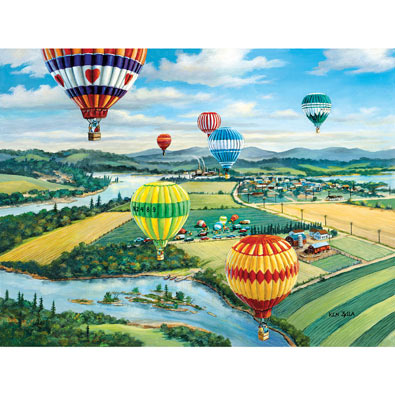 Ballooner's Rally 500 Piece Jigsaw Puzzle