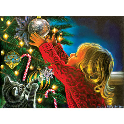 Santa's Midnight Helper 300 Large Piece Jigsaw Puzzle