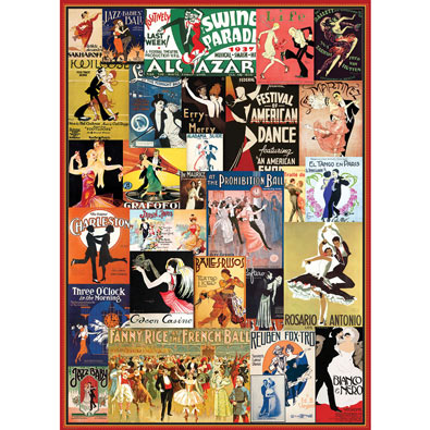 Vintage Dance 1000 Piece Collage Puzzle