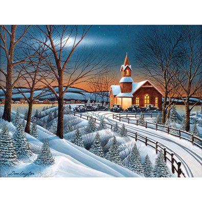 Winter Evening Service 300 Large Piece Jigsaw Puzzle