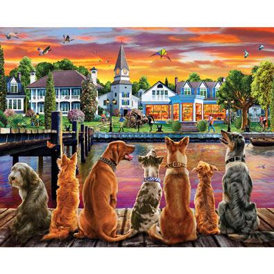 Dockside Dogs 1000 Piece Jigsaw Puzzle