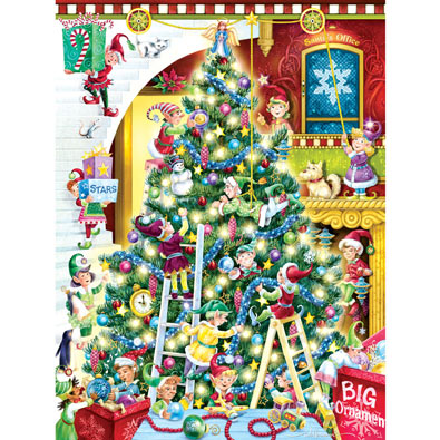 Trimming the Tree 550 Large Piece Jigsaw Puzzle