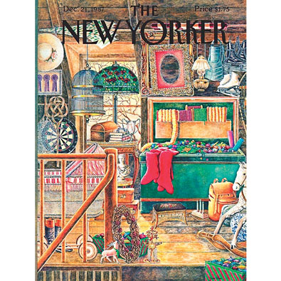 The New Yorker; Christmas Attic 1000 Piece Jigsaw Puzzle