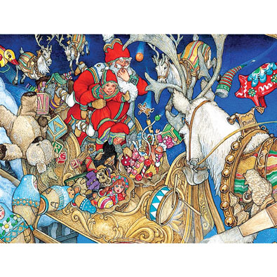 Santa's Toys 300 Large Piece Jigsaw Puzzle
