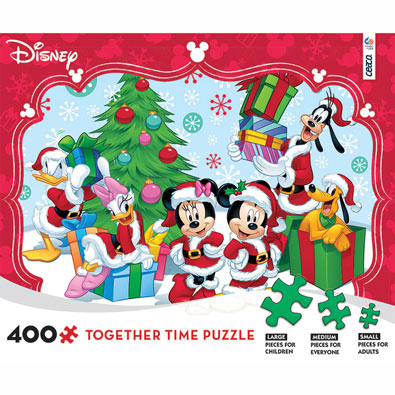 Cool Yule Together Time Disney Family 400 Piece Jigsaw Puzzle