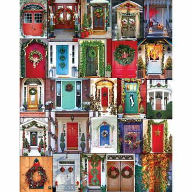 Holiday Doors 1000 Piece Jigsaw Puzzle