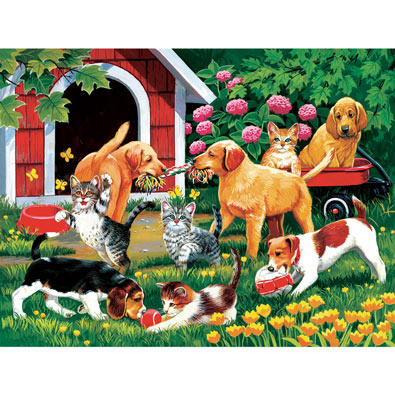Who's Winning? 300 Large Piece Jigsaw Puzzle