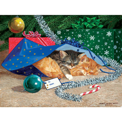 Nap Sack Cats 500 Piece Jigsaw Puzzle