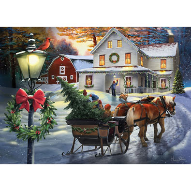 Holiday Farm House 1000 Piece Jigsaw Puzzle