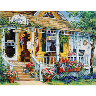 Blue Violet Antiques 300 Large Piece Jigsaw Puzzle