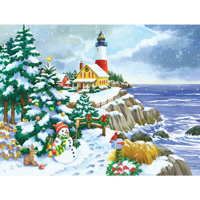 Winter Lighthouse 300 Large Piece Jigsaw Puzzle