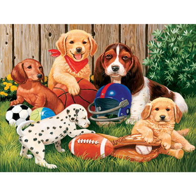 Sports Fans 300 Large Piece Jigsaw Puzzle
