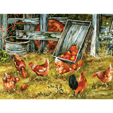 Pickin' Chickens 500 Piece Jigsaw Puzzle