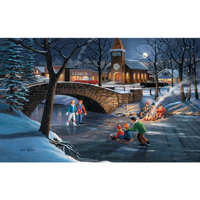 Skater's Moon 300 Large Piece Jigsaw Puzzle