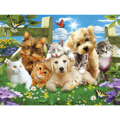 Pups n Kittens 300 Large Piece Jigsaw Puzzle