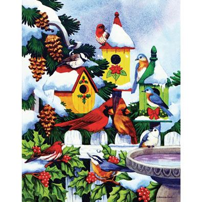 Winter Bird Haven 500 Piece Jigsaw Puzzle