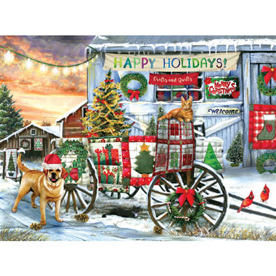 Holiday Wagon 1000 Piece Jigsaw Puzzle