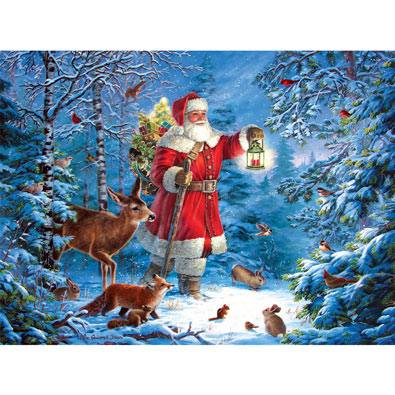 Wilderness Santa 1000 Piece Jigsaw Puzzle